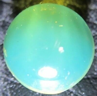 Ref.# 487- Dominican Blue Amber natural and round sphere- 1 bead 9.4 mm(0.4 g )