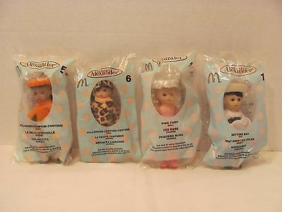 Lot of 4 Madame Alexander Dolls Setting Sail Pink Fairy Pumpkin Leopard Costume