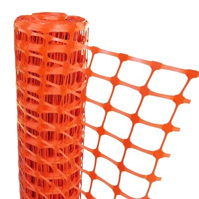 PLASTIC MESH BARRIER SAFETY FENCE Metal Steel Fencing Pins Netting Net Orange 1m