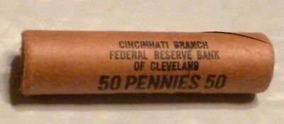 1957D Lincoln Wheat Cent Uncirculated Obw Penny Sealed Rolls Federal Reserve