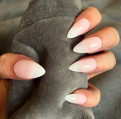 FALSE NAILS - Natural, French Ombre, Baby Boomer - Stick On - The Holy Nail