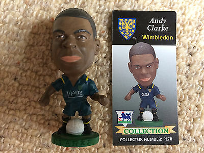 95/96 Corinthian Andy Clarke Wimbledon Figure & Card Excellent Condition