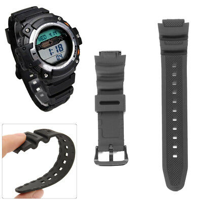 Replacement Black Wrist Band Strap for CASIO Watch SGW300 SGW300-300h SGW400-400
