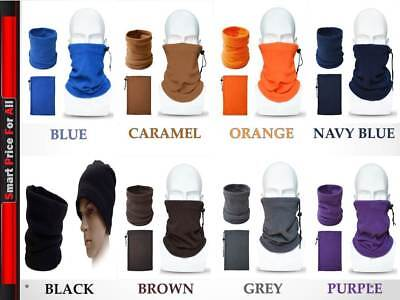 MULTI USE Neck warmer Thermal Polar Fleece Snood Motorbike Cycling Riding UNISEX