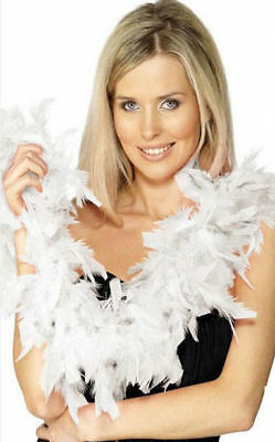 Fancy Dress Feather Boa 150cm White Burlesque Showgirl Hen Night