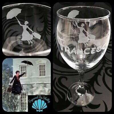 Mary Poppins Birthday Gin Glass Drinking Glass Gift for Her.79