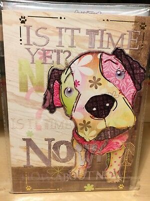 """Good Dog Soft Cover CUTE Pit Bull Journal """"Is it time yet? How about now?"""""""