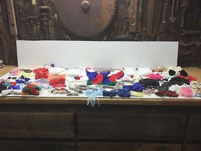 Junk Drawer Lot Hair Clips, Jester Hat, Wolf Ear Head Bands, Fake Rose Petals