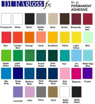 """12"""" x 10 ft - Choose Color - Professional Adhesive Vinyl Roll for Signs, Decals"""