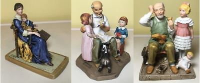 Norman Rockwell Set of 3 Figurines