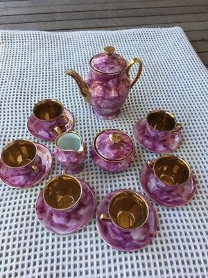 Wawel Tea Set Gold Finish Made In Poland, Vintage And Complete