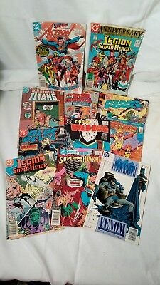 HUGE COMIC BOOK LOT OF 12 DC INDY SUPERMAN BATMAN X-MEN Legion Titans Squadron