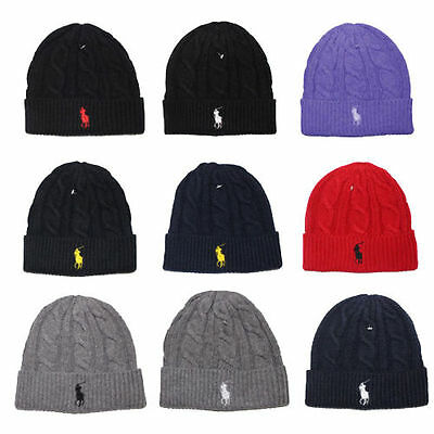 BNWT Beanie Skull Cap Hip Hop Lambs Wool Men Women Polo Color Knit Winter  Hat ede95eb2765