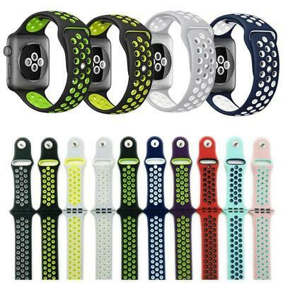 Replacement Sports Silicone Watch Band for Apple Watch Nike+ iWatch Series 3/2/1