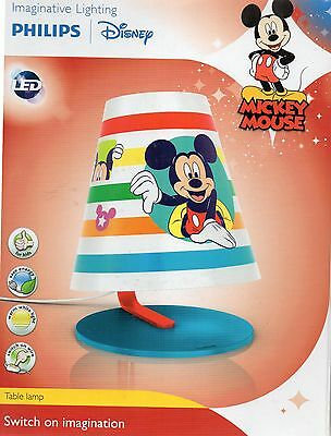 Philips Disney Mickey Mouse Children's Tischlampe - 1 x 4 W - Neu / OVP
