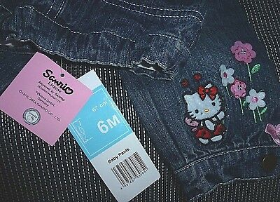NEU* 68/6 Mon*Hello Kitty by Sanrio TVMania*Baby Mädchen Jeans Pants,blue denim