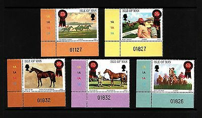 2001 Isle of Man, Horse Paintings, NH Mint Set of Stamps, SG 942-6