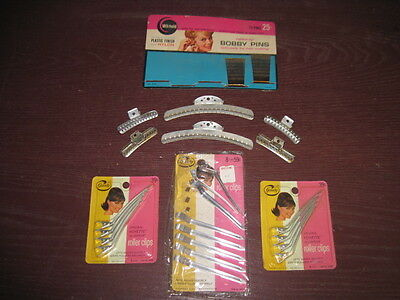 Vintage Lot - 3 Packs GOODY Roller Clips, Wil-Hold Bobby Pins,  New, Metal Clips
