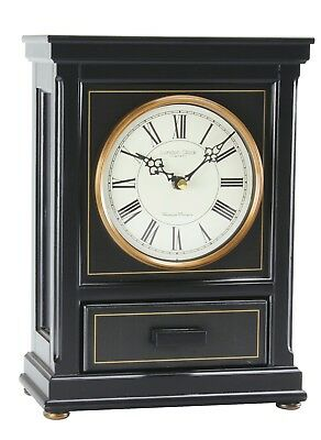 London Clock Westminster & whittington chime flat top mantel clock with drawer