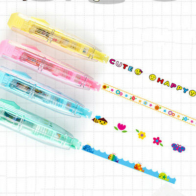 DIY Cute Cartoon Colorful Correction Tape School Supplies Kids Stationery P&T