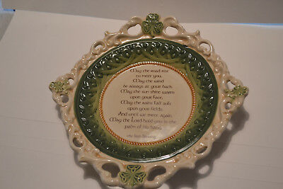 "Grasslands Road Irish Celtic blessing ""May the Road Rise"" 10 1/2 "" plate"