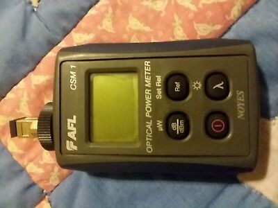 AFL Noyes Csm1 SM Mm Fiber Optic Power Meter Csm1