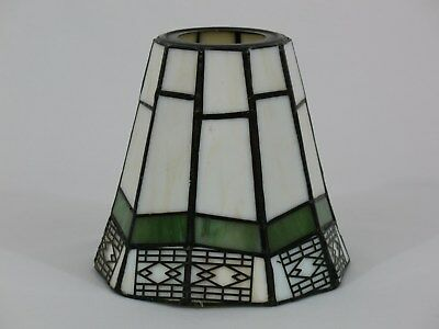 Arts & Crafts Style Stained Leaded Glass Light Shade Ceiling Fan Chandelier Wall