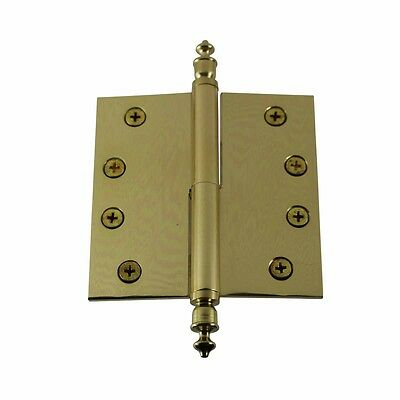 4 inch Lift Off Right Brass Door Hinge Vintage Urn Tip | Renovator's Supply