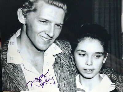 Myra Lewis signed 8x10 Jerry Lee Lewis ex-wife cousin Elvis Presley Sun records