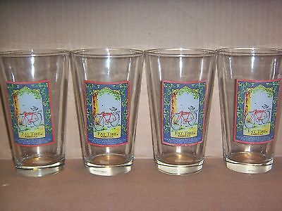 NEW! Set of 4 NEW BELGIUM FAT TIRE AMBER ALE Pint Beer Glasses (16 oz)