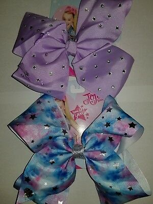 Lot Of 2 New Style Large Jojo Siwa Bows...gorgeous Combo