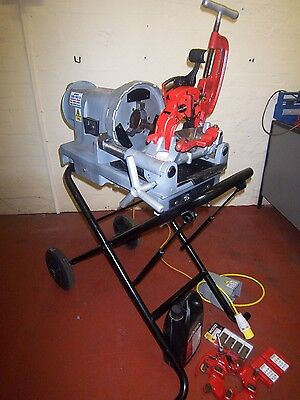 "RIDGID 1233 PIPE THREADER THREADING MACHINE UP TO 3"" RIGID £2650 + vat"