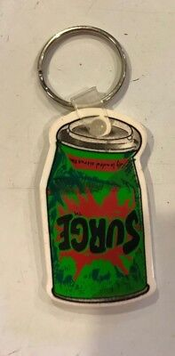 Rare Surge Soda Can Shaped 90's Promo 2 Sided Keychain Key Ring