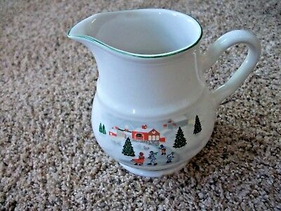 "Sango Silent Night 3900  Creamer Pitcher 4 1/2"" Vguc More In This Pattern"