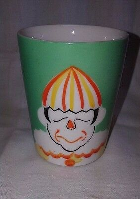 Vintage Hand Painted Japan Clown Pottery Juice Glass Cup Nice Marked !!