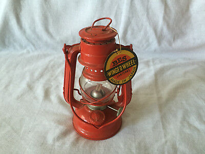 Vintage BES WINGED WHEEL Lantern Oil Kerosene Lamp #350 JAPAN w/ Tag UNUSED