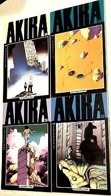 Akira 34 35 36 37 Rare End Of Series Epic Marvel Katsuhiro Otomo Oop Lot Low Run