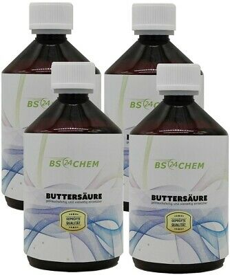 BS24CHEM 1000ml (4 x 250ml) Buttersäure 99,5 % Marken Produkt