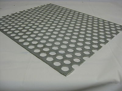 """Perforated Aluminum Sheet .125 8 ga. 12""""x 24""""  3/4"""" hole 1"""" Stagger 3003 H14"""