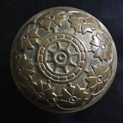 Antique Victorian Hopkin & Dickinson  Vernacular Solid Heavy Brass Door Knob.