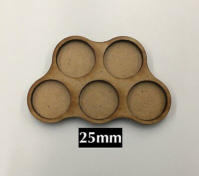 Warhammer 40k / Age of Sigmar AOS Movement Tray 5 Models (25mm bases) Scouts
