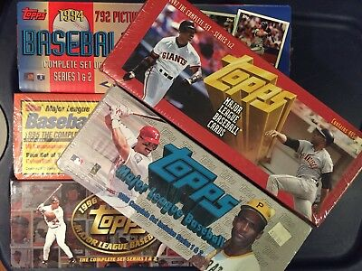 Topps Baseball Cards, Complete Sets - MINT in Box, 94' 95' 96' 97' 98'- lot of 5