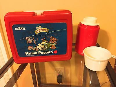 Pound Puppy Lunch Box and Thermos 1987, price reduced