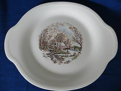Vintage Edwin M. Knowles China Co. semi vitreous serving platter made in USA