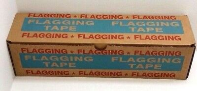 "12 Rolls 1-3/16"" Fluorescent Pink Flagging Tape Surveyor Ribbon"
