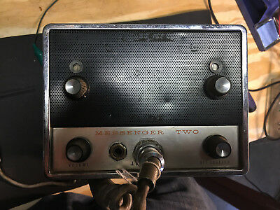 Vacuum Tube Johnson Messenger two CB radio For Parts or Restoration