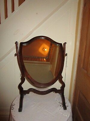 Antique Shield Shaped Swing Dressing Table Mirror