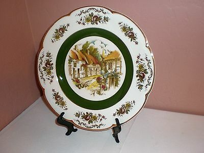 """Ascot Service Decorative Wall Plate""""Village/Church Steeple"""" Wood & Sons England"""