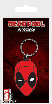 Marvel Comics Key Ring Rubber Deadpool Face 5 cm Keychain 38556