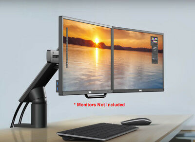 NEW Dell MDA17 Dual Monitor Screen LCD Adjustable Arm - Desk Mount Stand